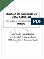 Escala Calidad Vida Colombia Manual