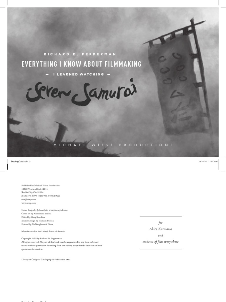 Between the scenes sample pdf screenplay plot narrative everything i know about filmmaking i learned watching seven samurai fandeluxe Images