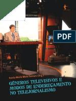 Livro Generos Televisivos e Modos de Endereçamento Edufba 2011