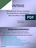 Smigielska B Syntaxe-distinction de Diverses Fonctions Des Propositions Subordonnees Dans Une Phrase Composee