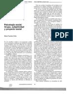 M Fuentes Avila - Psicologia Social. Grupo, Subjetividad y Proyecto Social
