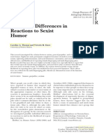 Individual Differences in Reactions to Sexist Humor