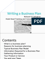 1  Writing a Business Plan