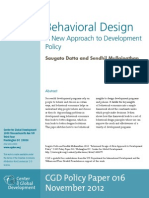 Behavioral Design a New Approach to Development Policy