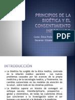 Principios de La Bioética y El Consentimiento Informado