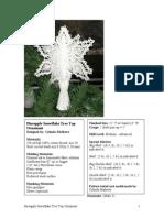 0325 Pineapple Snowflake Treetop Ornament