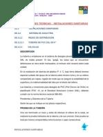 Especificacion y Memoria - Sanitarias-Actuall