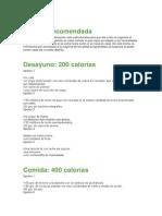 La Dieta Recomendada
