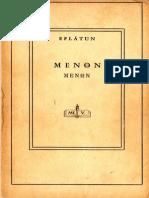 Platon - Menon
