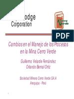 Cambios Operaciones en Cerro Verde