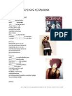 Cry Cry by Oceana Song Worksheet