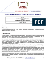 Determinacion de Plomo Ditizona