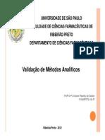 Validação de Metodos Analiticos