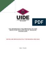 Guía Metodológica Para El Plan Del Proyecto de Titulación ECYTA 2012 (1)