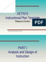 aet515 instructional plan template