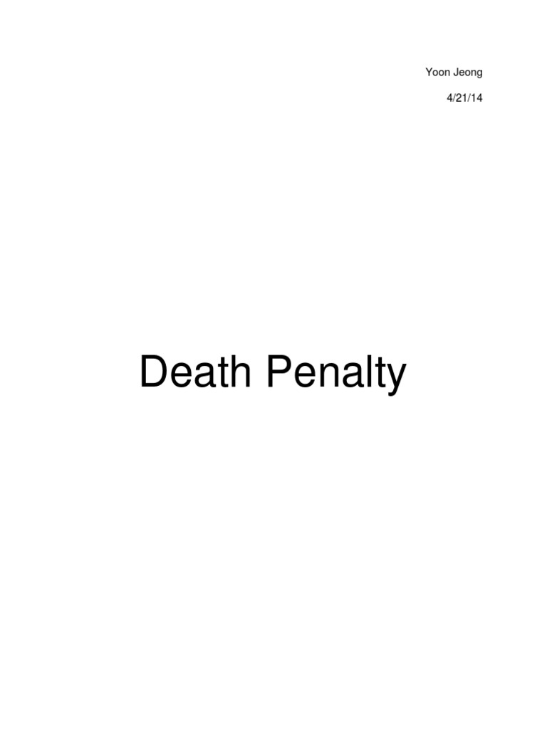 Capital punishment research paper