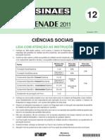 Enade 2011 Ciencias Sociais