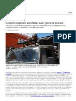 Governos Negociam Para Tentar Evitar Greve de Policiais - Brasil - Notícia - VEJA
