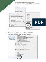 Buka Folder Baru Mengikut Mata Pelajaran Yang Diajar