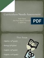 curriculum needs assessment