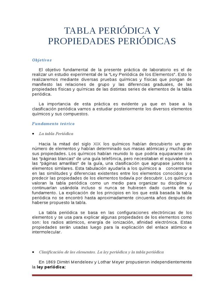 Objetivos de la tabla periodica de los elementos quimicos images 36618959 tabla periodica y propiedades periodicas quimica basica 36618959 tabla periodica y propiedades periodicas quimica basica urtaz Gallery