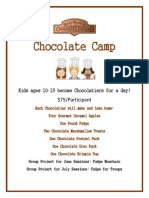 RMCF Chocolate Camp Flyer & Registration