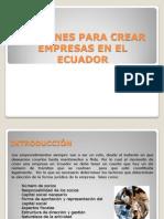 Opciones Para Crear Empresas en El Ecuador
