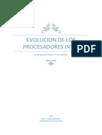 Evolucion de Los Procesadores Intel