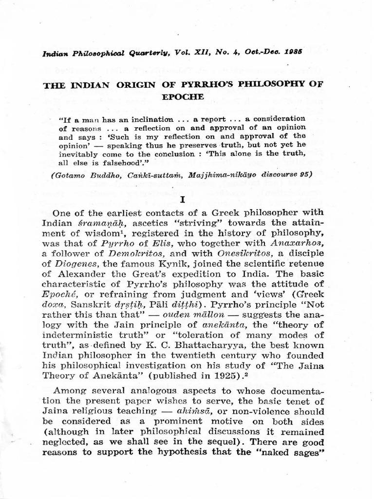Origin of philosophy