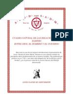 Cuadro Natural de Las Realciones Que Existen Entre Dios, El Hombre y El Universo (Louis Claude de Saint Martin)