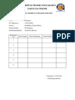 Kartu Bimbingan Praktik Industri Dan Jadwal Rencana Kegiatan