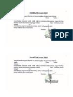 Format Surat keterangan dokter
