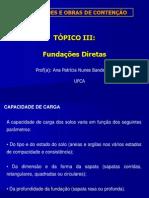 Fundações_Cap Carga Fund Diretas
