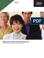 IBM Service Provider Delivery Environment Framework Brochure
