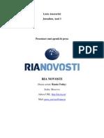 Prezentare Unei Agentii de Presa din Rusia - RIANOVOSTI