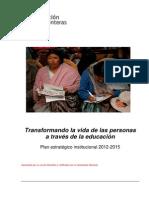 Plan Estrategico Educacion Sin Fronteras