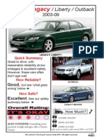 Subaru Legacy Liberty Outback 2003-09