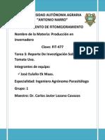 Tomate Uva - Reporte de Investigacion (Tarea 3)
