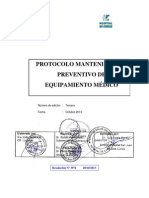 Protocolo Mantenimiento Preventivo de Equipamiento Médico. 3ª Edición