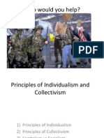 Principles of Individualism and Collectivism