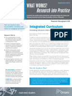 Ww Integrated Curriculum