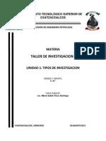 Unidad i Tipos de Investigacion