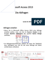 Kurs 4 - Microsoft Access 2013 - Abfragen