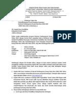 Undangan Bimtek Bantuan RKB Tahun 2014 (Gelombang 1)