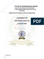 Web Technologies Lab Manual