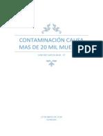 Contaminación Causa Mas de 20 Mil Muertes