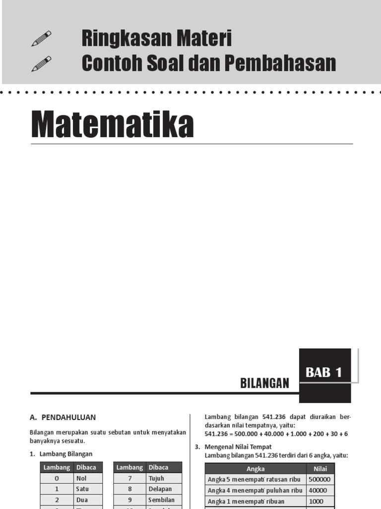 Ringkasan matematika sd mi ccuart Image collections