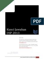 Kunci Jawaban OSP 2013