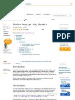 Modular Javascript Using Require