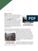 erosion reading